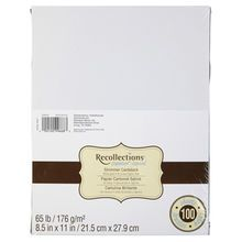 White Gold Shimmer Cardstock Paper By Recollections 8 5 X