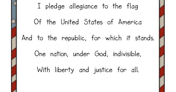 The Pledge Of Allegiance Teaching Ideas Kindergarten