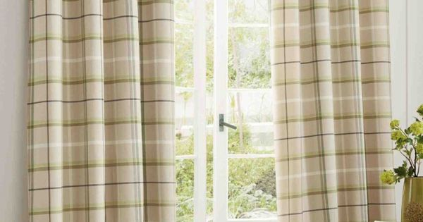 next green check woven curtains cloth art pinterest doors front door curtains and front doors. Black Bedroom Furniture Sets. Home Design Ideas