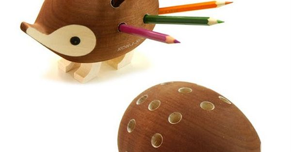 Cute hedgehog pencil holder. How lovely would be to have this in