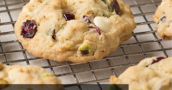 ... Cranberry, Pistachio and White Chocolate Chip Oatmeal Cookies for the