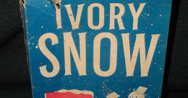 Ivory snow laundry detergent. Good for making fake snow and put on