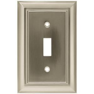 Hampton Bay Nickel 1 Gang Toggle Wall Plate 1 Pack W10087 Sn Uh The Home Depot Plates On Wall Switch Plate Covers Decorative Light Switch Covers