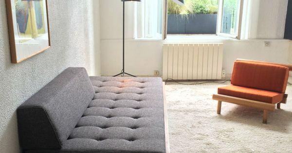 banquette canap lit day bed godot pierre chapo de 1970 50 en orme seltz meubles pinterest. Black Bedroom Furniture Sets. Home Design Ideas