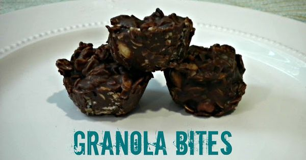 Granola bites, Chocolate peanut butter and Granola on Pinterest