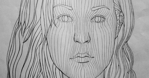 Contour Line Drawing Assignment : Cross contour assignment by chelseagirly