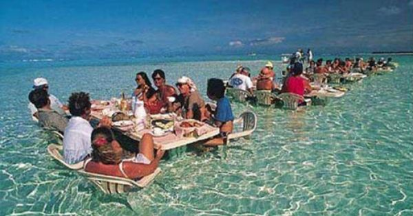 #MyAmbitWHY = BoraBora Restaurant in the lagoon !! .:. Image Credit: http://www.buzzfeed.com/peggy/places-youd-rather-be-sitting-right-now?sub=2159313_1107180