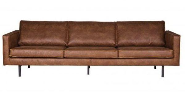 Be pure home rodeo bank 3 zitter bruin leer nasmaak meer dan design meubels pinterest - Sofa zitter ...