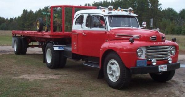 Photo 1950 Ford F8 Truck With Sleeper A 1948 1958