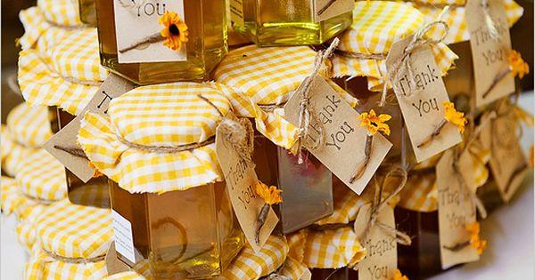honey wedding favors - sweet memory of your wedding day: honey pots