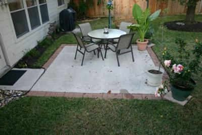 Extending Patio With Stone Or Pavers Concrete Patio Makeover Concrete Patio Extension Ideas Patio