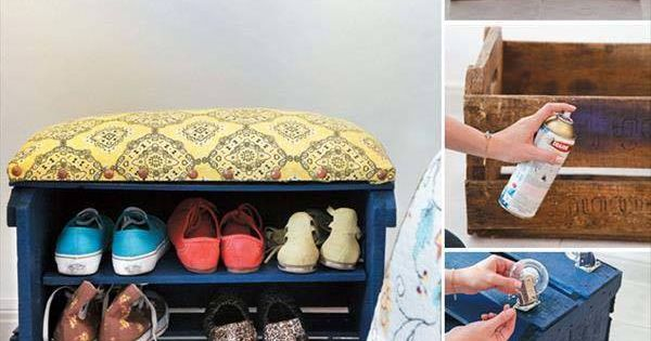 Hacer un zapatero con caja de madera reciclada cajas o for Ideas para hacer un zapatero