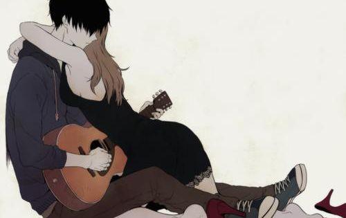 Черно белый арт аниме парень 3