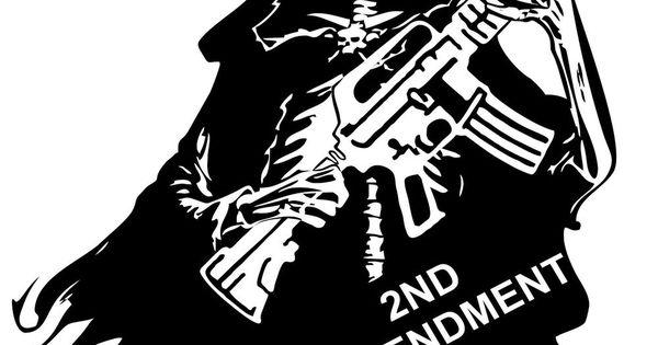 2nd Amendment Skull Grim Reaper Rifle Gun Car Truck Window