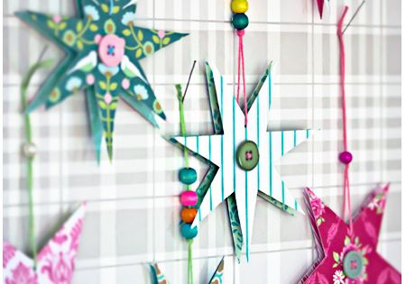 Making paper stars might be a kids craft to do there.