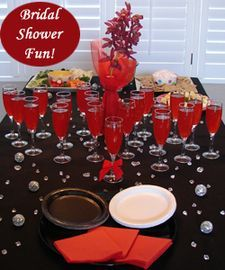 Red And Black Wedding Shower White Bridal Shower Theme Bridal