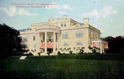 Sherwood Lodge Newport Ri Pembroke Jones Residence On Bellevue