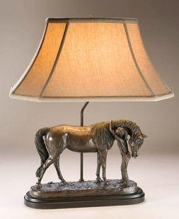 Laser cut Steel HORSES Pool Table Light Lamp rustic saddle cabin decor BLACK