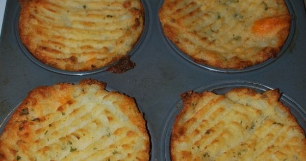Easy to make potato cakes: Just mash potatoes plain with butter, or