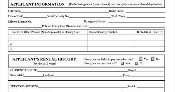 Wisconsin Rental Application Template Rental Application Being A Landlord Rental Agreements