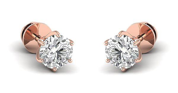 Diamond Jewelry Gift for Women Diamond Earrings 0.30 to 4 Carat 100/% Pure Diamond Earrings Lab Created Diamond Earrings SI-FG, Round Brilliant Diamond Stud Earrings