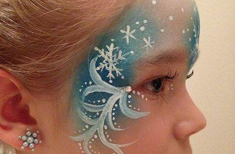 Elsa face paint | Flickr - Photo Sharing!