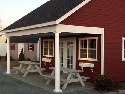 Like This Color Scheme Black Roof Red Barn With White