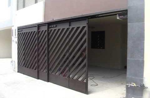 Portones de herreria modernos corredizos buscar con for Garajes originales