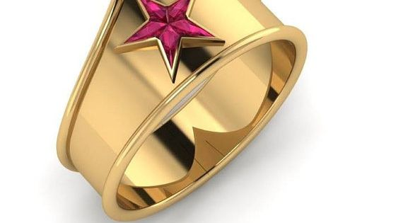 Wonder Woman | 11 Fabulously Geeky Wedding Rings
