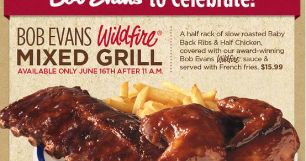 bob evans father's day coupons