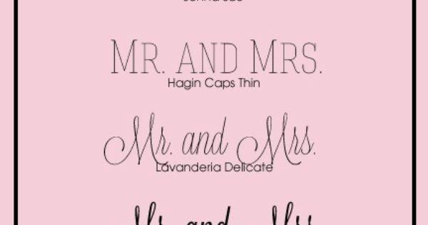 Free Wedding Fonts For Your #DIY #wedding #invitations