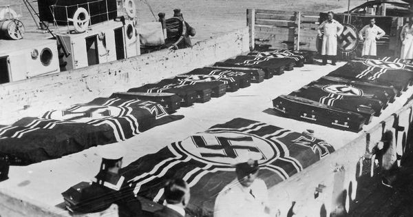 December 15 1939 The Coffins Of The Crewmen Killed In The Battle
