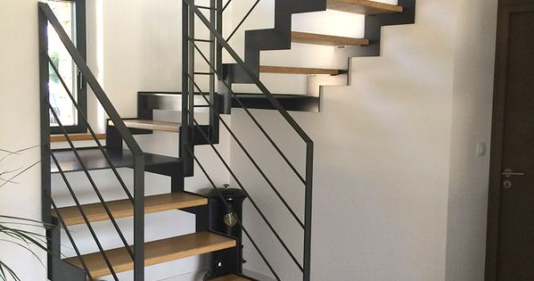 fabrication escalier metal bois escalier moderne en bretagne morbihan fabric metal. Black Bedroom Furniture Sets. Home Design Ideas