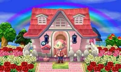 Pink House Animal Crossing Pink Houses Exterior