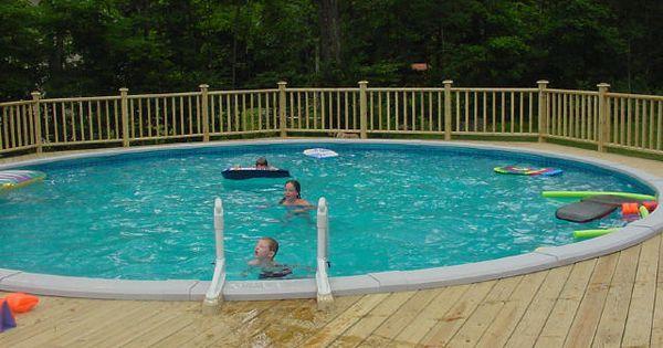 Deck Railings Around Above Ground Pools Free Standing