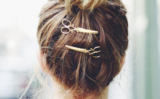 scissor hair pins