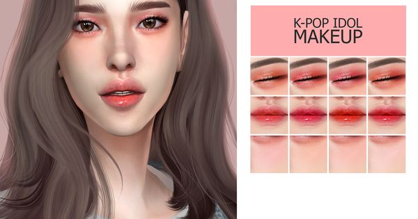 Gpme Kpop Idol Makeup Sims 4 Sims 4 Anime The Sims 4 Skin