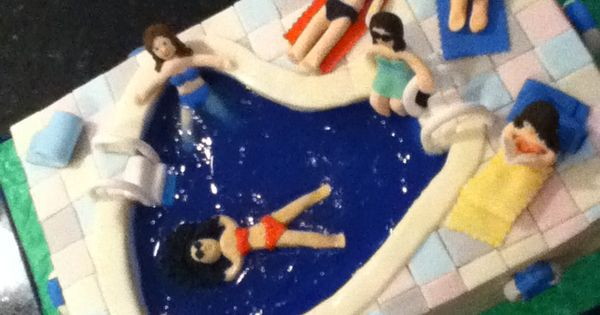 Lounging With Friends In The Summer Is Key But A Jello Filled Swimming Pool Cake Would Be A