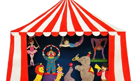 Circus Puppet Theater Craft Circus Crafts For Kids