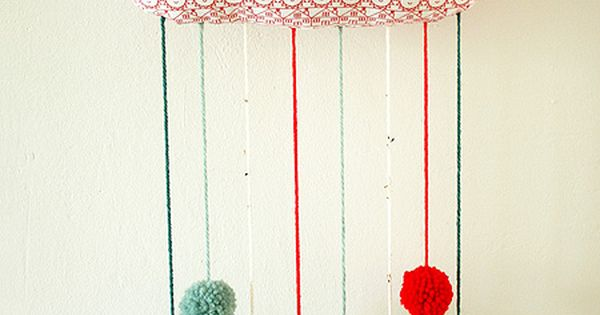 DIY ~ Pom Pom Cloud, but not with pom poms but rain