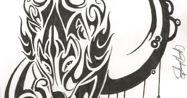 Celtic Wolf - character presently unnamed. On her left shoulder.