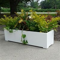 24 Modern Long Rectangle Shaped Pvc Planter In 2020 Outdoor Planters Rectangular Planters Modern Planters Outdoor