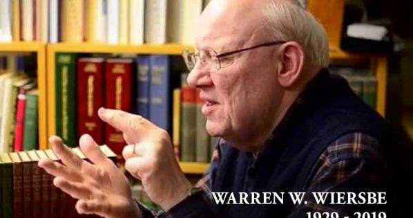The Great Bridge Builder Warren Wiersbe Is In Heaven Now Bible Commentary Books Of The Bible How To Be Outgoing