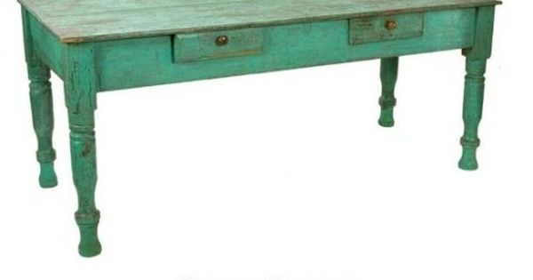 Antique Painted Farm Table Wood Outdoor Furniture Painted Patio Furniture Antique Wood