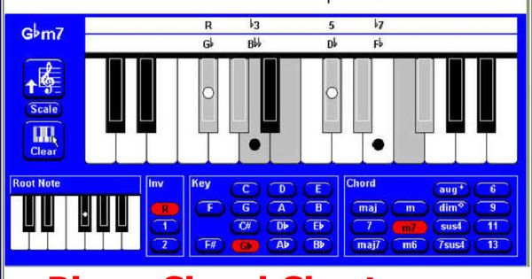 Contemporary Piano Chord Finder Software Image Collection Basic