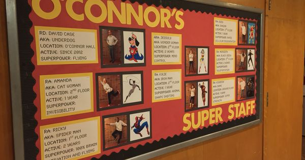 Meet The Super Staff Superhero Themed Staff Bulletin