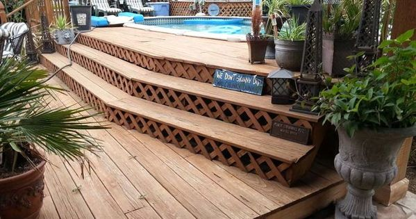 Above Ground Pool Two Tiered Deck Yahoo Image Search