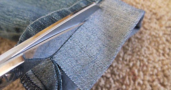 DIY: Hem jeans fast and easy - keep the original hem. For