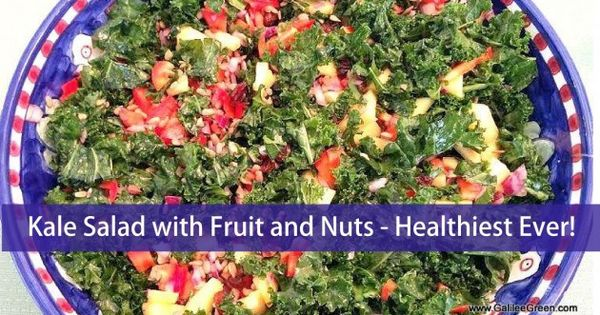 Kale Salad with Fruit and Nuts -- Healthiest Ever! | Snacks & Sides ...