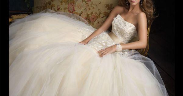 Lazaro tulle ballgown wedding dress